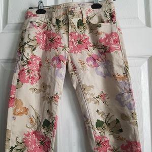 Ralph Lauren Denim & Supply Skinny Flower Jeans